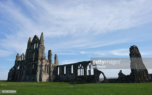 Preparations are made at Whitby Abbey in North Yorkshire ahead of a beacon lighting ceremony that forms part of country wide celebrations for the...