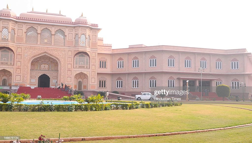 Preparations are on at the All India Congress Committee's Chintan Shivir to be held from January 18 - 20 at B M Birla Science and Technology Centre, on January 16, 2013 in Jaipur, India. The three day meet will be attended by Prime Minister Manmohan Singh and UPA Chairperson Sonia Gandhi.