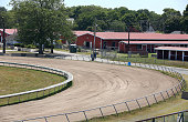 Preparations continue on Wednesday July 6 for horse racing's return to the Brockton Fairgrounds after 10 years This view shows two of the barns and...