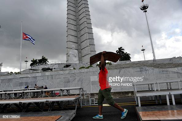 Preparations for a ceremony in honour of late Cuban revolutionary leader Fidel Castro are going underway in front of the Memorial to Jose Marti at...