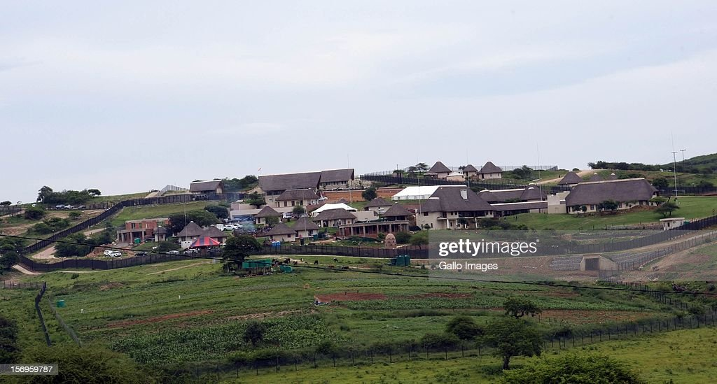 Preparations for a traditional ceremony held by South African President Jacob on November 24 2012 at his Nkandla homestead South Africa The ceremony...