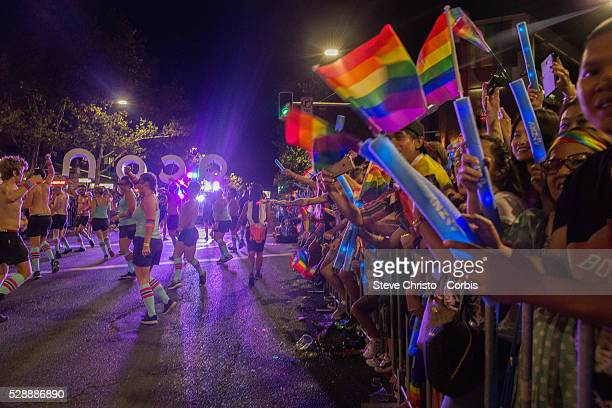 Preparations for the Sydney Gay and Lesbian Mardi Gras in Sydney on Saturday March 5 2016 in Sydney Australia