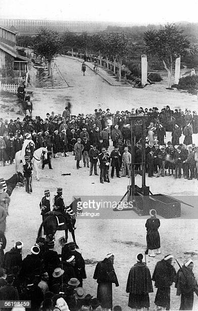 Preparations of one execution to the guillotine in North Africa