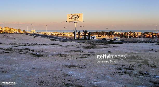 A prepared construction area for housing estates is seen on February 14 2007 in Torrevieja Spain Over the past five years Spain has been building...
