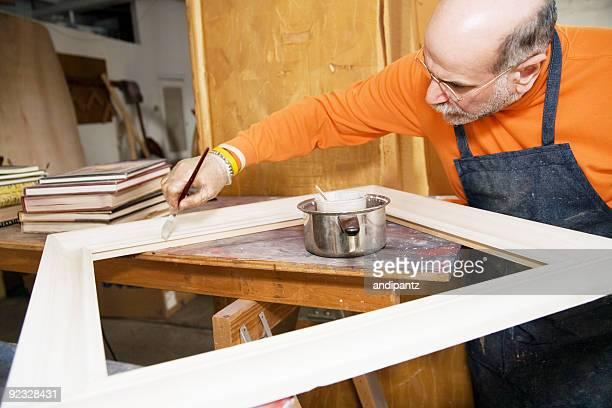 preparing a frame