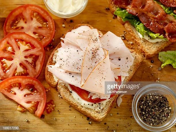 Preparing a Turkey Sandwich