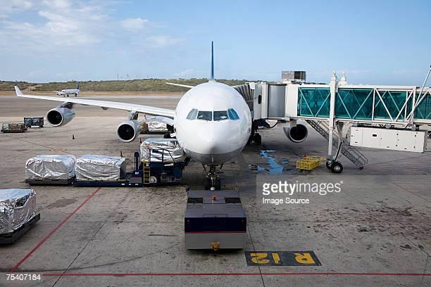 Preparing airplane