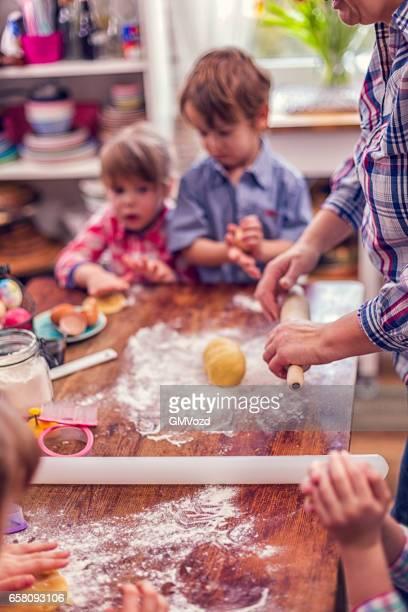 Preparing and Baking Easter Cookies
