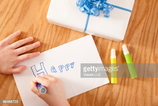 Preparing Birthday card