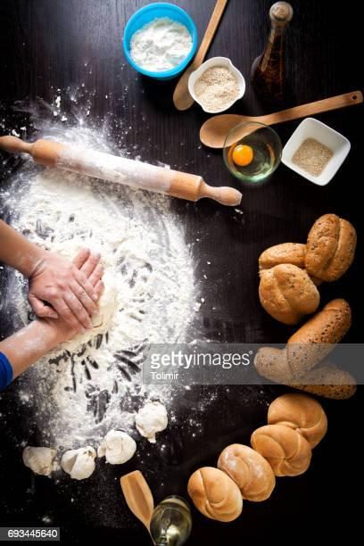 Preparing bread dough