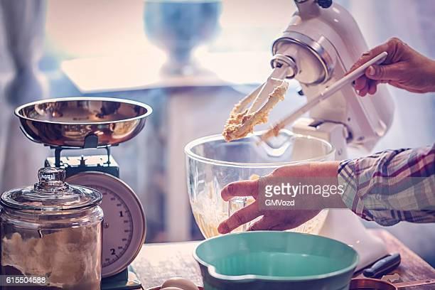 Preparing Cake Batter