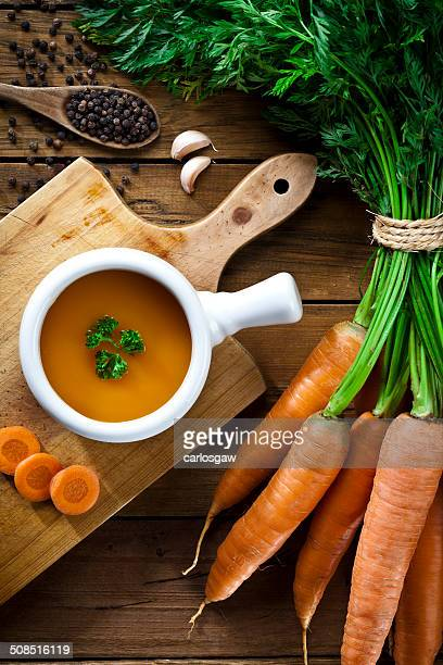 Preparing Carrot Soup