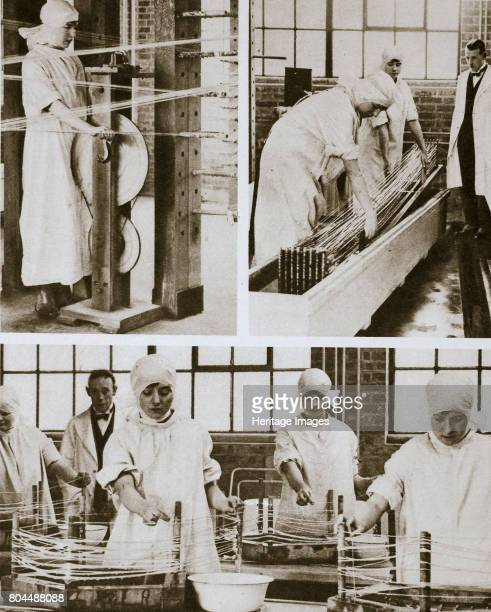 Preparing cat gut at the London Hospital's own factory London 20th century Cat gut is a kind of chord prepared from the intestine of animals and used...