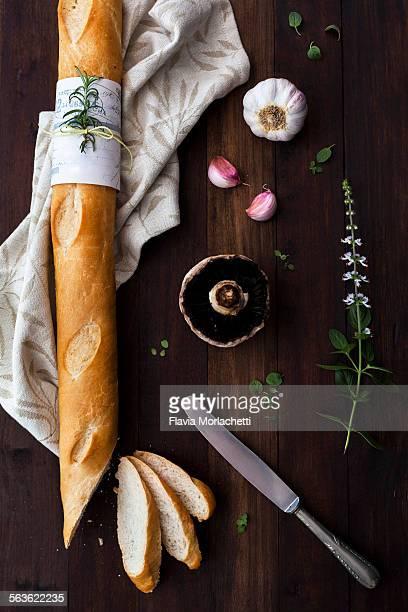 Preparing crostini (italian staple)