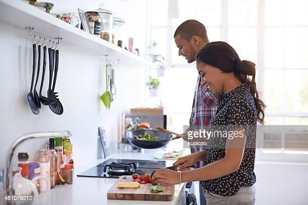 Die Vorbereitung Abendessen
