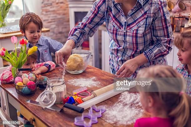 Preparing Easter Cookies