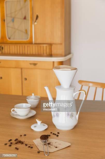 Preparing filter coffee