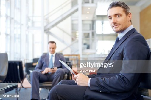 Preparing for his next meeting : Stock Photo