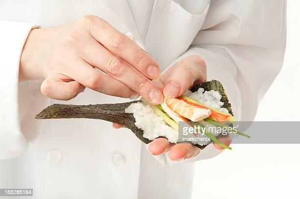 Preparing Hand Roll