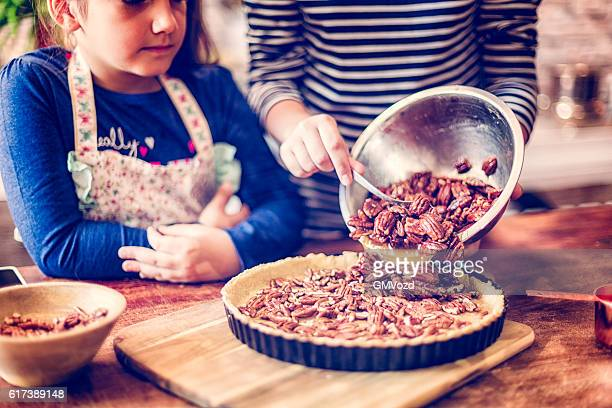 Preparing Homemade Pecan Pie for the Holidays