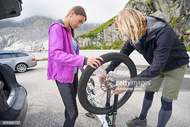 Preparing Mountain Bikes for Ride in the Mountains