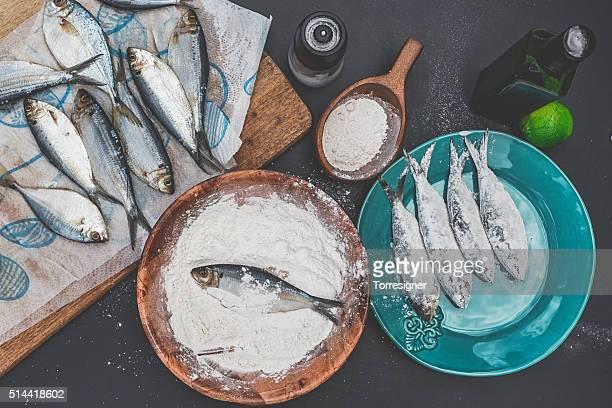 Préparer des Sardine à frire