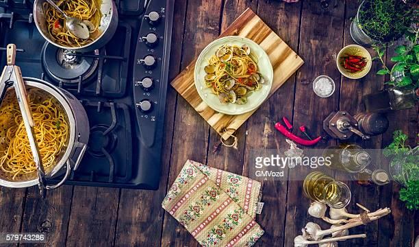 Préparation Spaghetti alla Vongole