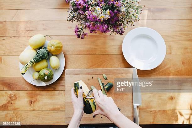 Preparing squash