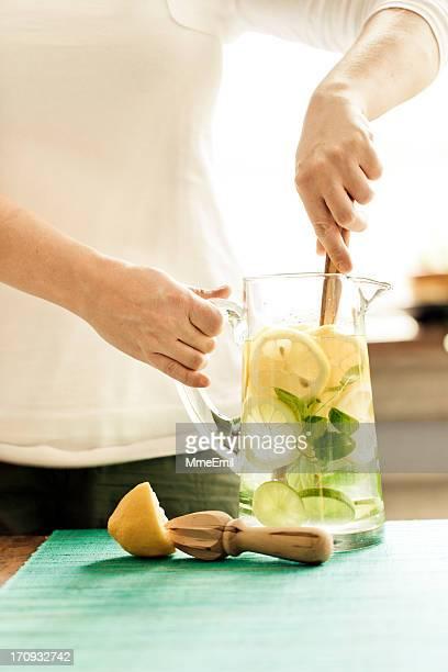 Preparing Summer Lemonade
