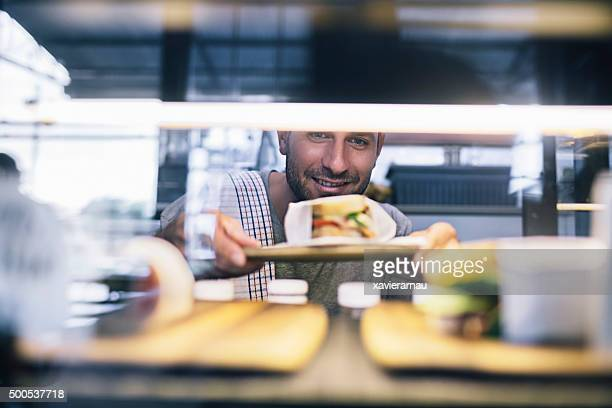 Preparing the food display