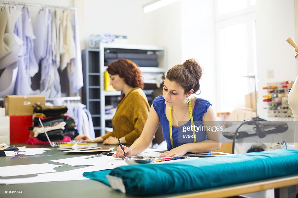 Preparing the new fashion collection : Stock Photo