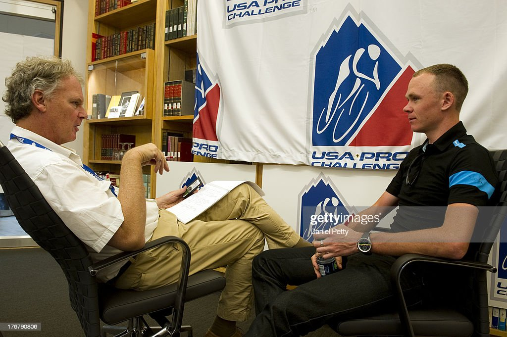 Pre-race press conference for the USA Pro Challenge at the Aspen Institute on August 18, 2013, in Aspen, Colorado.