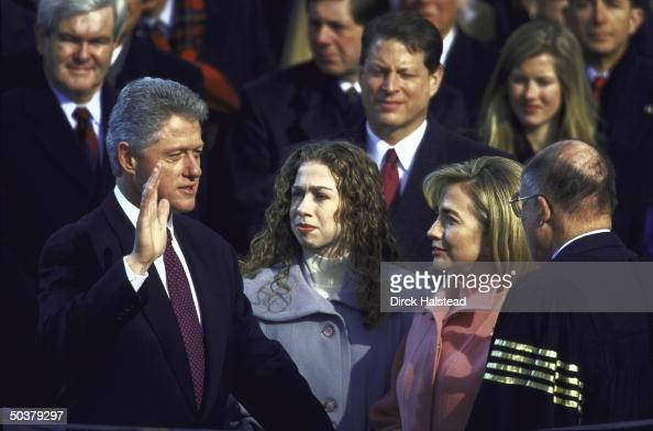 Al gore daughters stock photos and pictures getty images - When did clinton take office ...
