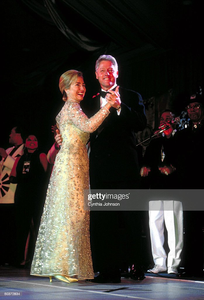 Pres Bill Hillary Rodham Clinton dancing at his 2nd term inaugural Arkansas Ball