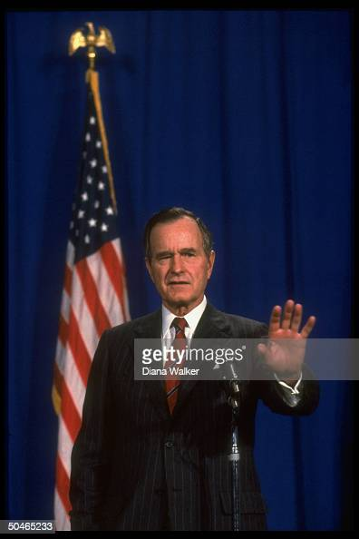Pres Bush speaking during CSCE conf