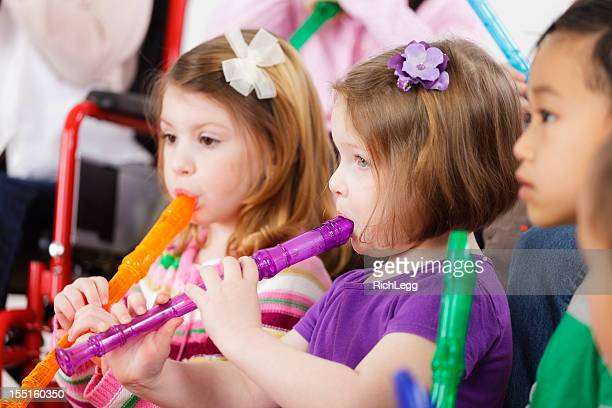 Preschool Children in a Music Class