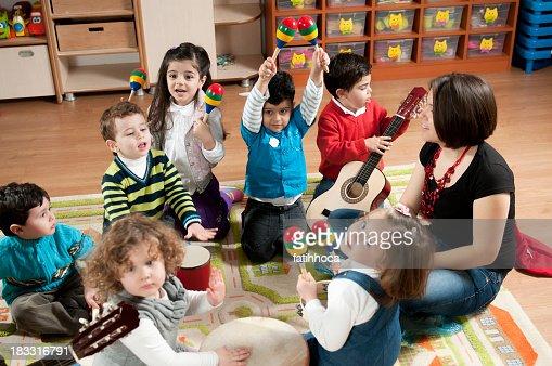Preschool Children in a Music Class