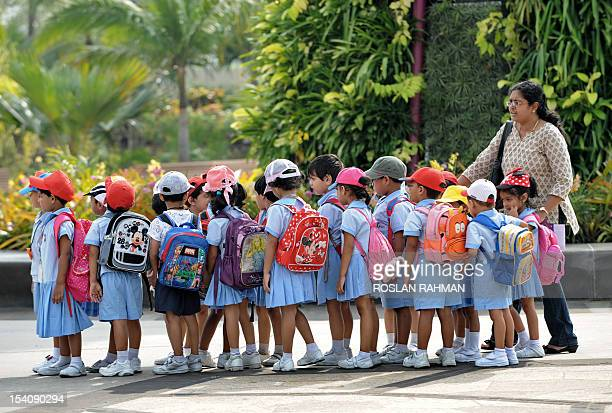 Preschool children tour the Garden by the Bay during an excursion in Singapore on July 25 2012 AFP PHOTO / ROSLAN RAHMAN