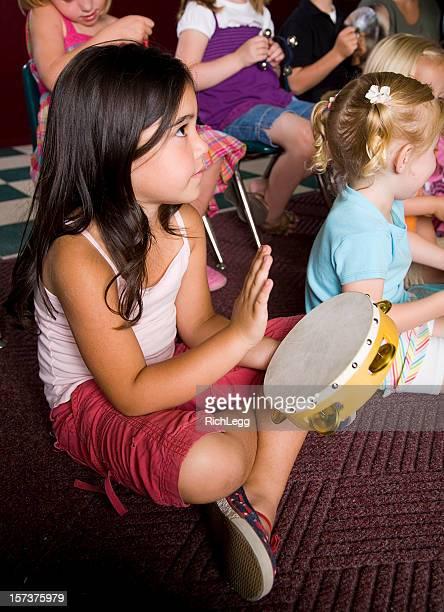 Preschool Girl in a Classroom