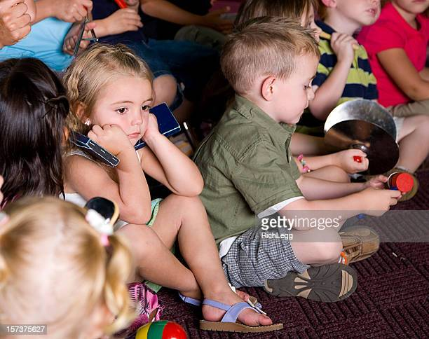 Preschool Girl in a Music Class