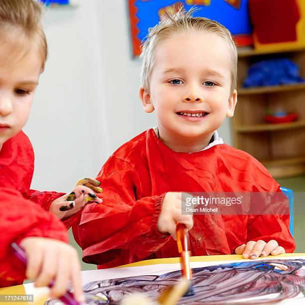 Vorschule Gemälde in einem Klassenzimmer