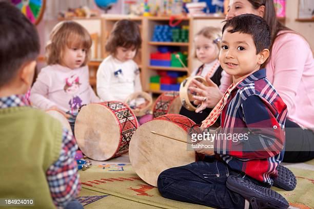 Preschooler and Music