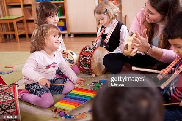 Preschooler and Teacher