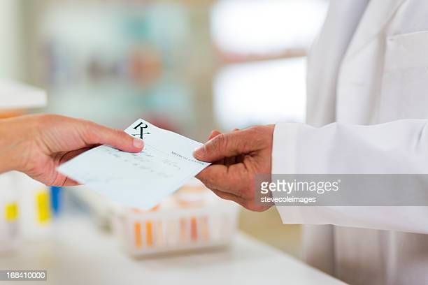 Prescription Being Given to Pharmacist
