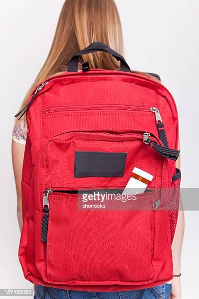 Ordonnance médicale bouteille à un sac à dos