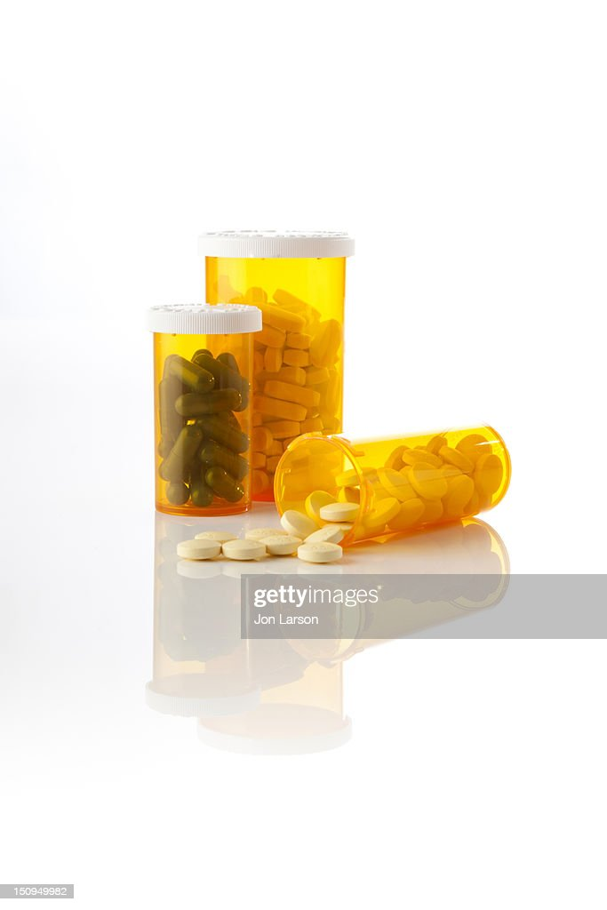 Prescription Drug Bottles : Stock Photo