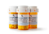 Prescription Drugs, Isolated On White, Clipping Path