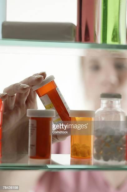 Prescription medication in cabinet
