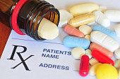 Photo of prescription pills with shallow DOF