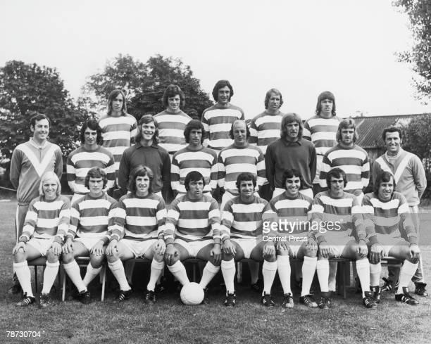 A preseason portrait of QPR's 1973 team 23rd August 1973 Back row left to right John Beck Ian Gillard Ian Evans Mick Leach Tony Hazell Middle row...